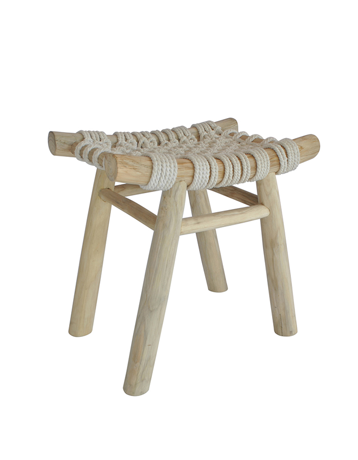JALI Macrame Cross Stool