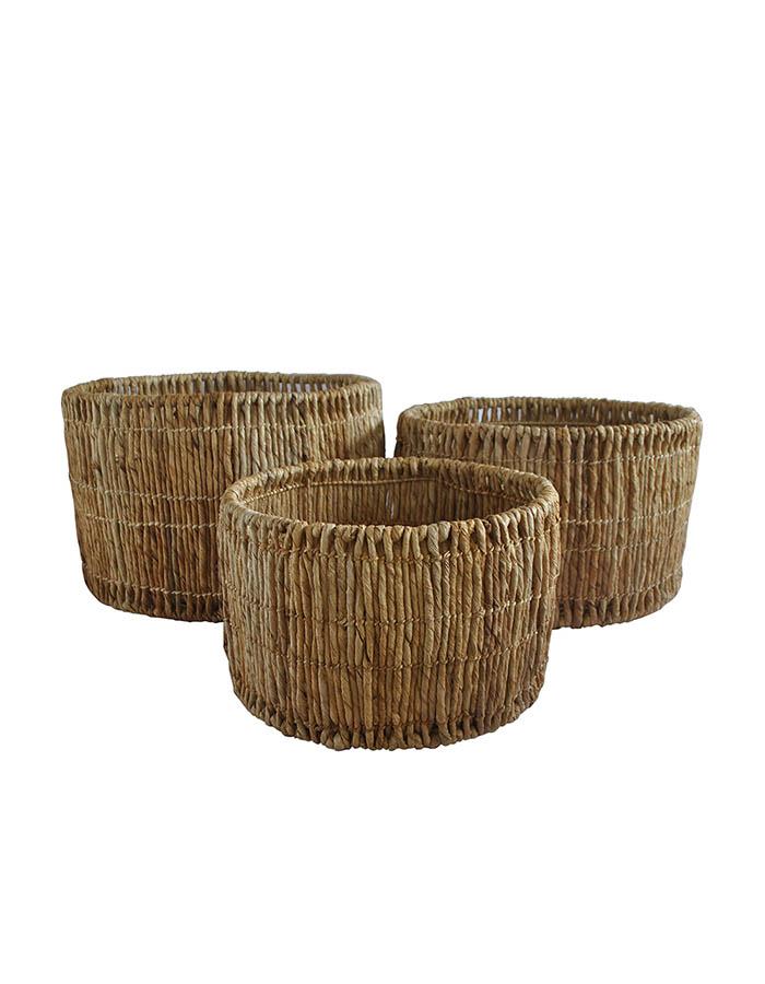 LURUS Abaca Round Basket